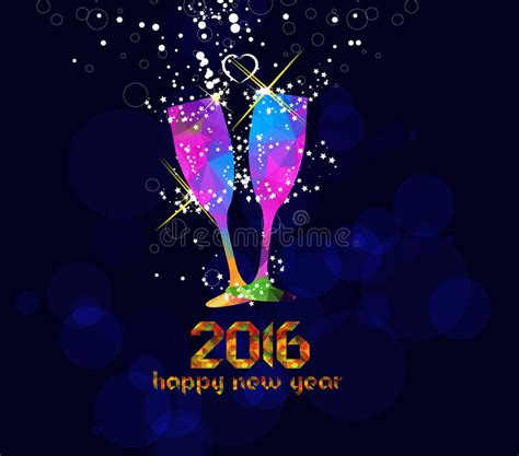 happy new year glassy design happy new year 2016 greeting card or poster design with