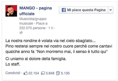 d estate mango testo la morte di mango il post