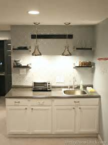 Basement Kitchen Cabinets Finished Basement Kitchenette From Thrifty Decor