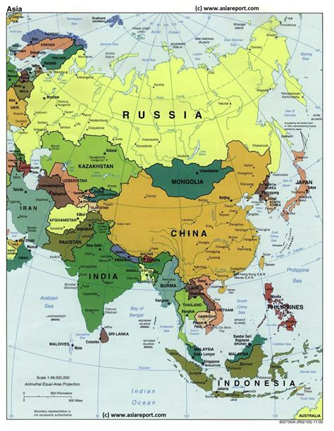 asia map with country names and capitals pdf map of asia political borders national capitals cities