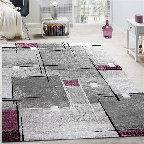 design teppiche designer teppich abstrakt grau lila meliert design teppiche