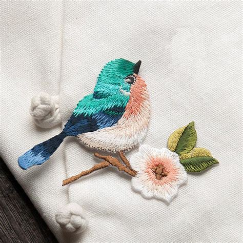 patch applique 1pc sew embroidery birds iron on patch badge applique