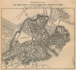 boston united states map maps of boston city map massachusetts united states 1814