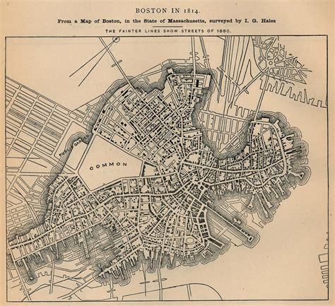 map us boston maps of boston city map massachusetts united states 1814