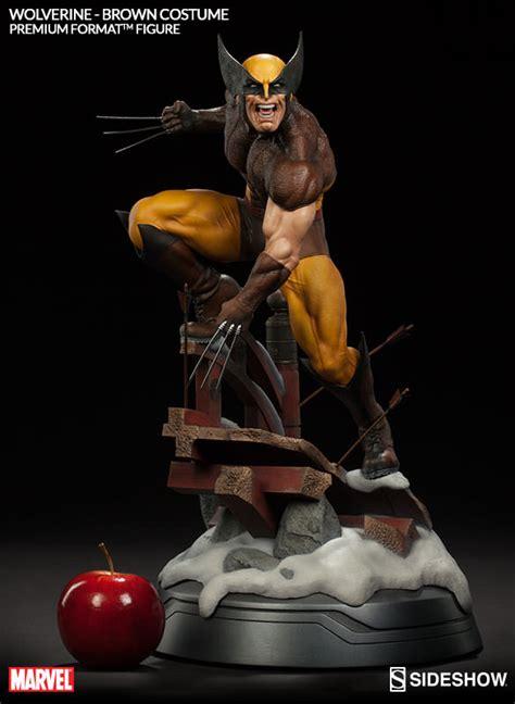 figure wolverine marvel wolverine brown costume premium format tm figure