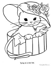 easter cats kittens coloring book books cat coloring pages free and printable