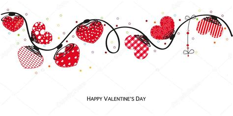 valentines day card design hearts vector stock vector hearts valentine day happy valentines day card border