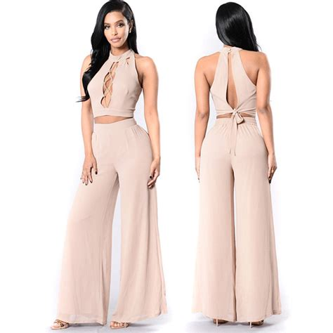 new women s jumpsuits shorts rompers halter top backless new 2 piece women backless chiffon jumpsuits romper