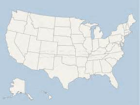 vector map of the united states of america vector