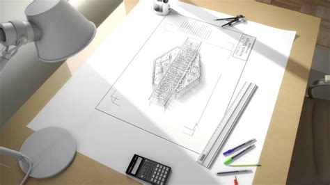 Architectural Designer by On The Drawing Board An Architects Drafting Table In 3d Building Design Loversiq