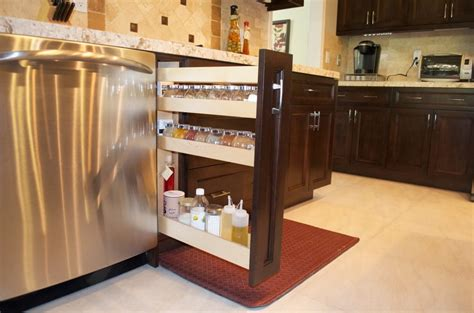 European Style Cabinets Construction by Custom Made Spice Rack European Flush Style Cabinets By