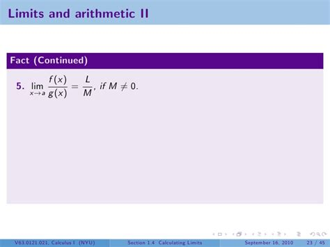 section 42 guidelines lesson 4 calculating limits section 21 slides