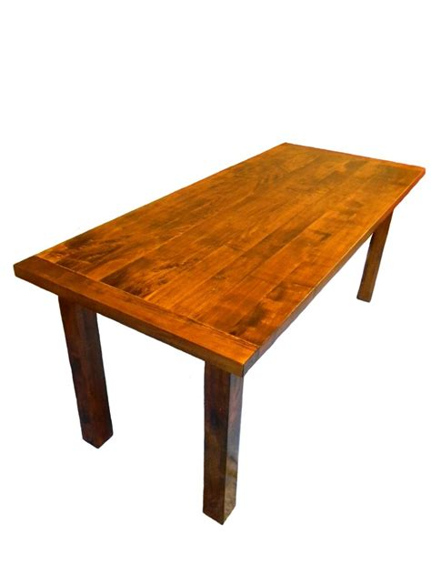 maple dining room table custom made solid rustic modern maple dining table by