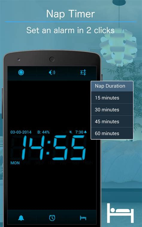 Jam Alarm Layar Besar weker apk gratis alat apl untuk android