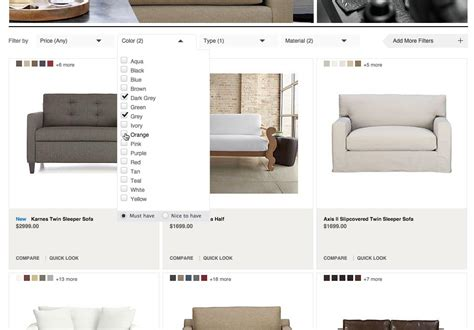 horizontal layout web design filtering ui a horizontal toolbar can outperform the
