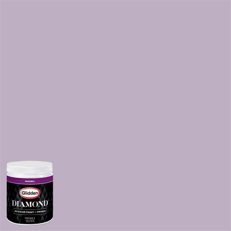 glidden 8 oz hdgv58d northern light purple eggshell interior paint with primer tester