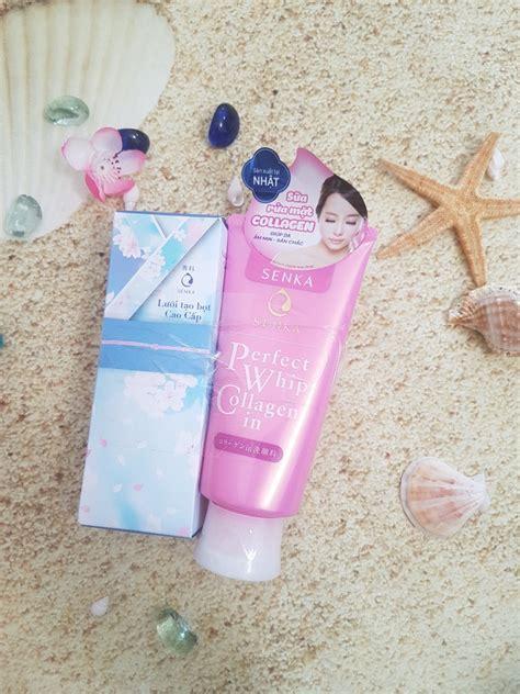 Senka Whip 120gr sữa rửa mặt shiseido senka whip collagen in