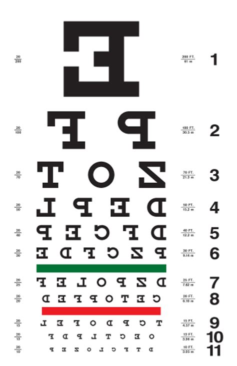 printable eye chart letter size eye chart with backwards letters