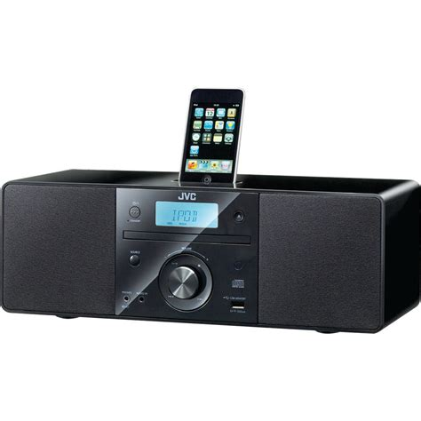 best ipod dock sound system jvc rdn1 micro system with cd and top mount ipod dock rdn1 b h