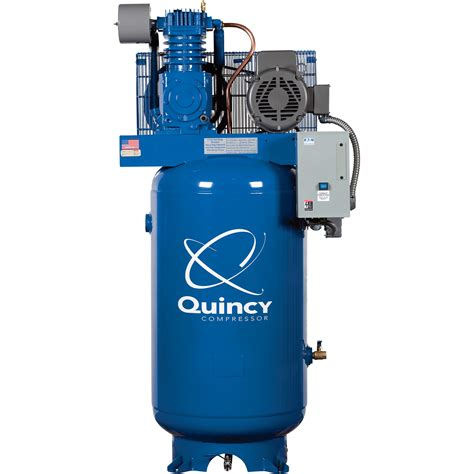 free shipping quincy qt 7 5 splash lubricated reciprocating air compressor 7 5 hp 230 volt
