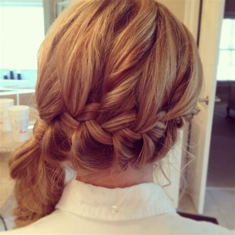 homecoming hairstyles side swept prom hair for this year side swept pony with a katniss