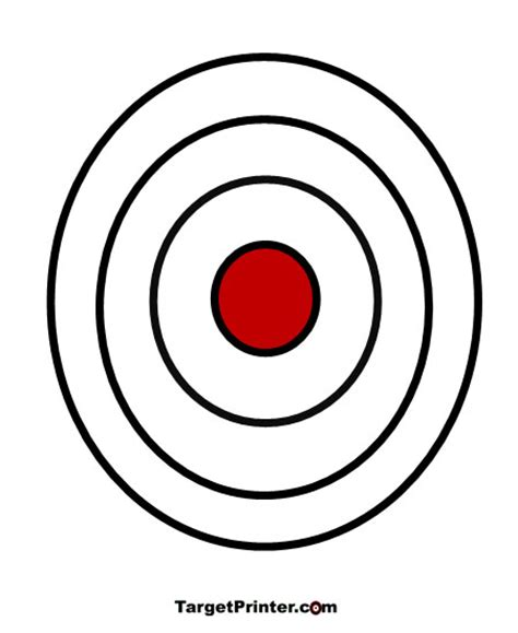 printable rifle pistol targets printable large bullseye shooting target