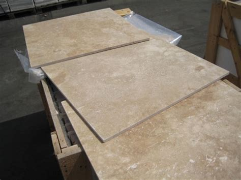 Hazelnut 24x24 Honed Filled Travertine Tile