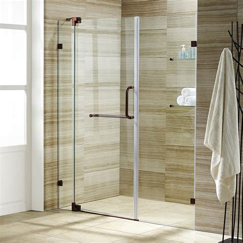 48 frameless shower door vigo pirouette 48 in x 72 in frameless pivot shower door