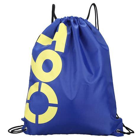 String Bag Tas Serut tas ransel serut drawstring model sport blue