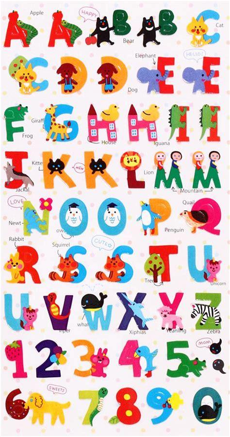 alfabet farris theme html autocollants avec des animaux et les lettres de l alphabet
