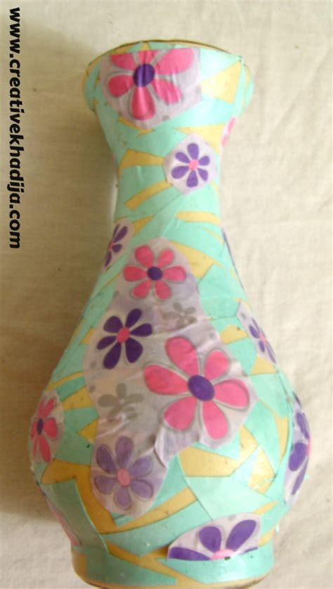 How To Decoupage A Vase - diy decoupaged vase