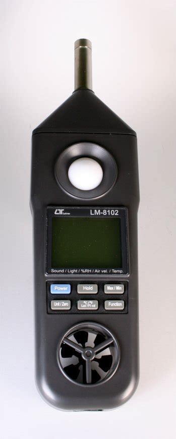 Lm 8102 5 In 1 Meter Anemometer Humidity Light Sound Temp Meter lm8102 sound anemometer rh temp type k