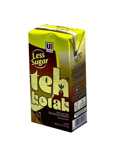 Teh Kotak Less Sugar 300ml ultra teh kotak less sugar tpk 300ml klikindomaret