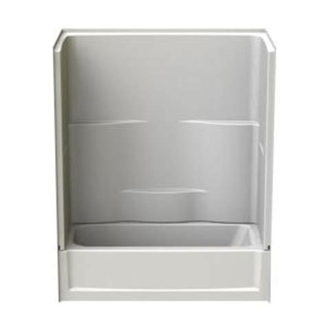aquatic 60 in x 30 in x 72 in 2 piece direct to stud tub wall in white 2603302ppcl wh the
