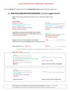 llc subscription agreement template ira llc subscription agreement by eet94928