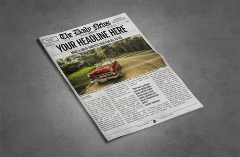 Make Your Own News Paper - 1 page letter ledger newspaper template bundle for adobe