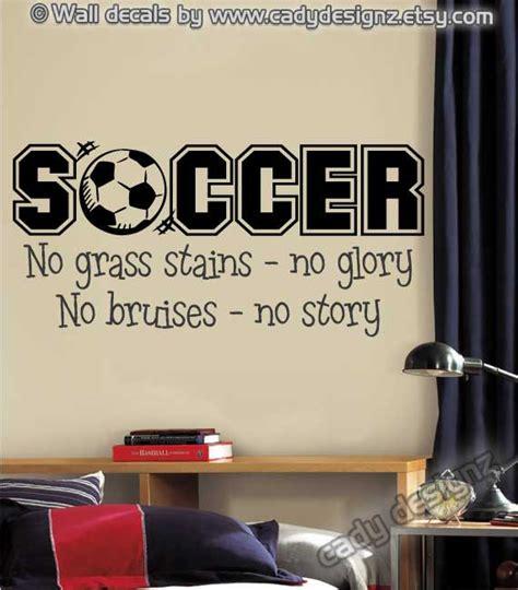 Soccer Wall Decor by Soccer Sports Vinyl Wall Decal Boys Room Decor By