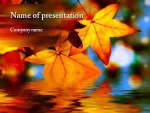 fall powerpoint templates free autumn leaves powerpoint template for