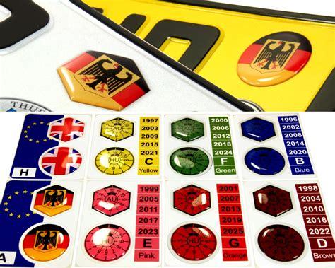 3d Sticker Car by Set Of 2 Gel Resin Domed 3d Sticker Car Badge German