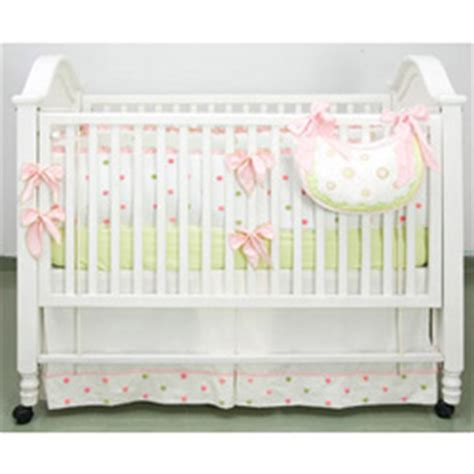 Polka Dot Crib Bedding Sets Pink And Green Polka Dot Crib Bedding