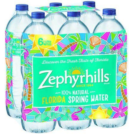 zephyrhills florida spring water   liter bottles walmartcom
