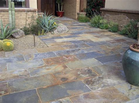 patio floor tiles slate patio flooring photo