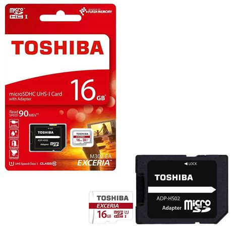 Microsd Toshiba Exceria Uhs 16gb 90mb Adapter Murah toshiba exceria micro sd sdhc memory card uhs 1 16gb 7dayshop