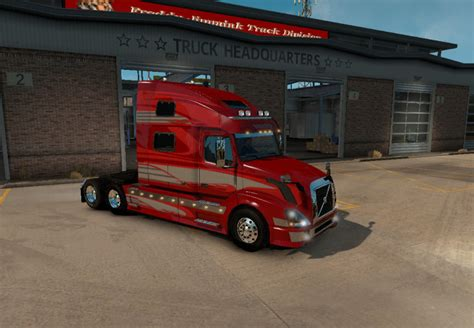volvo truck store volvo vnl 780 red fantasy for vnl truck shop ats mod download