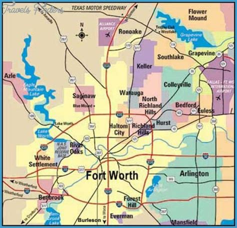 fort worth map fort worth map tourist attractions travelsfinders