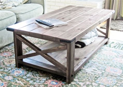 build a rustic x coffee table gentlemint