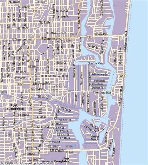 fort lauderdale map maps of fort lauderdale