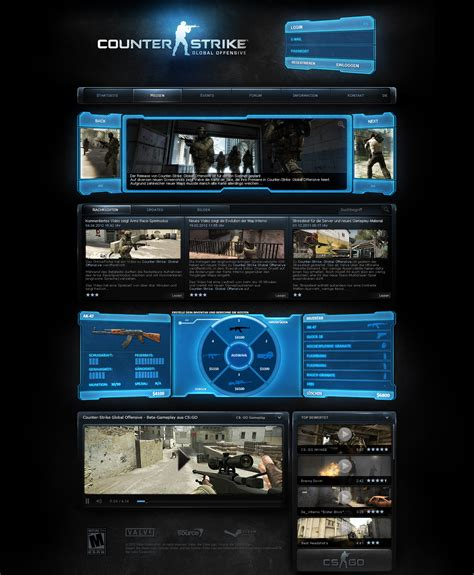 Counter Strike Global Offensive By Crypedesign On Deviantart Csgo Website Template
