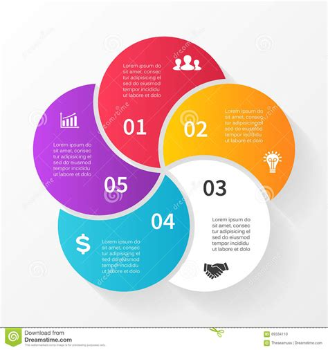 diagram infographic vector circle arrows infographic diagram graph