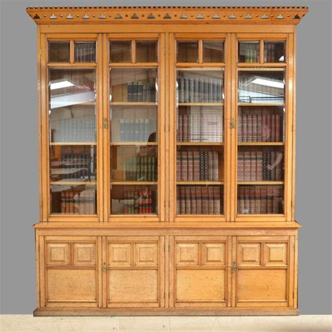 arts and crafts bookcase spectacular solid oak antique arts and crafts